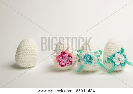 Easter Egg Made From Yarn