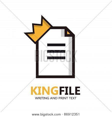 Vector file logo. Document icon.