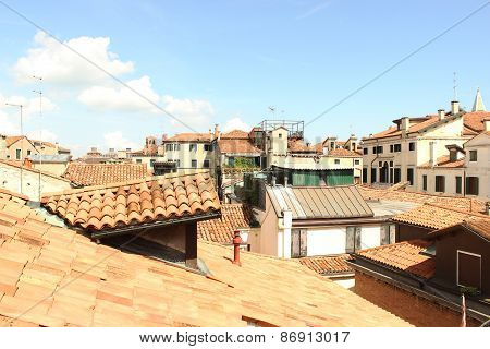 Panoramic view of a housing estate in Venice