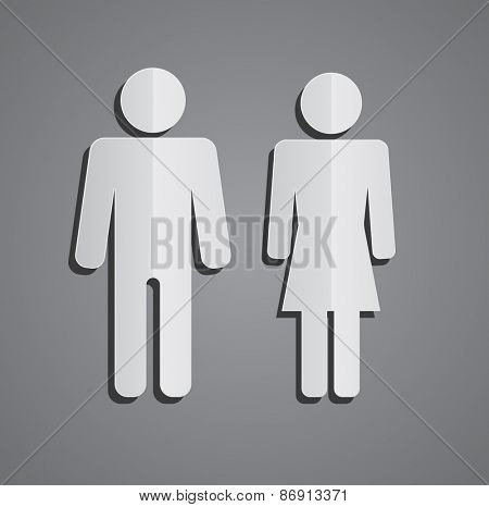 man and woman paper person icon design