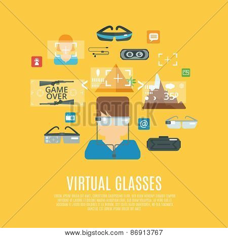 Virtual Glasses Flat