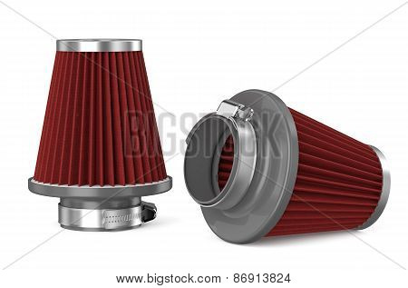 Red Air Filter For Car
