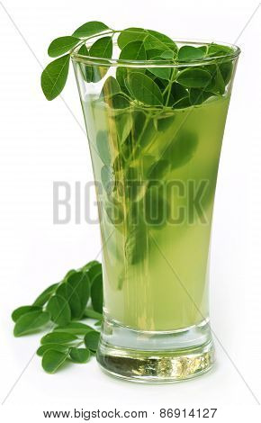 Ayurvedic Juice Made From Moringa Leaves