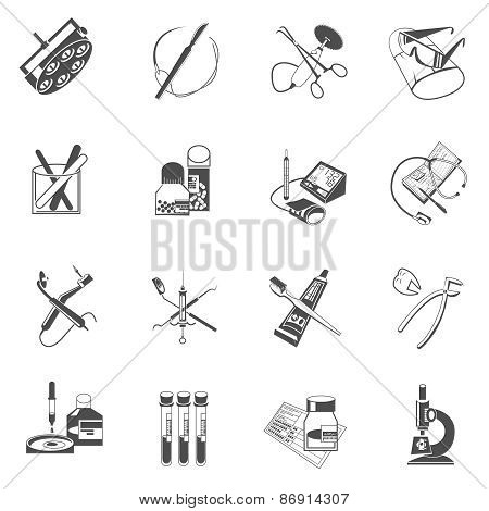 Medical healthcare icons set black