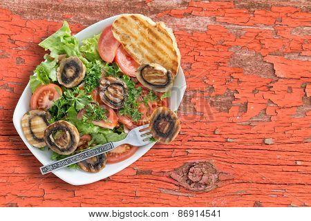 Healthy Grilled Mushroom Salad