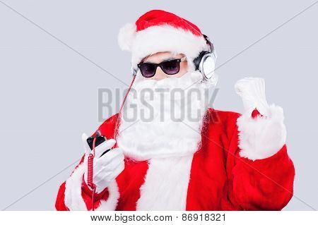 Enjoying Christmas Music.