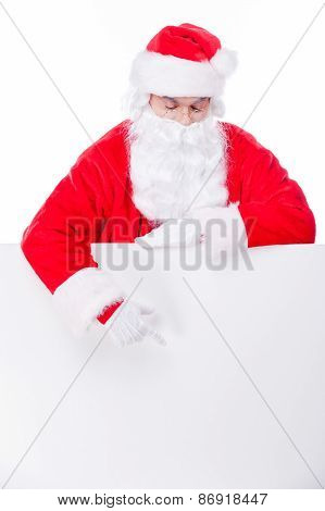 Curious Santa.