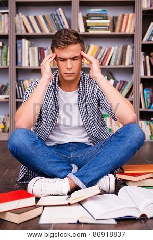 Trying To Concentrate On Studying.