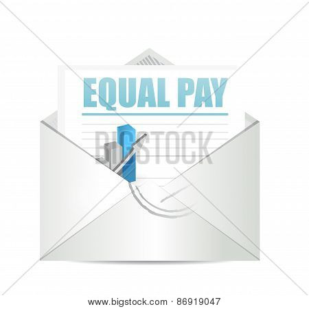 Equal Pay Mail Sign Illustration Design