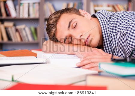 Sleeping In Library.