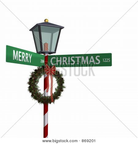 Merry Christmas Street Sign