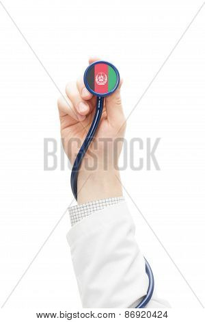 Stethoscope With National Flag Series - Afghanistan