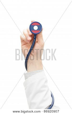 Stethoscope With National Flag Series - Laos