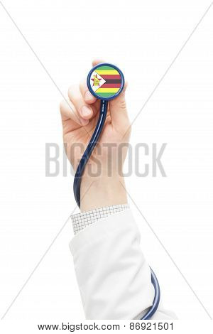 Stethoscope With National Flag Series - Zimbabwe