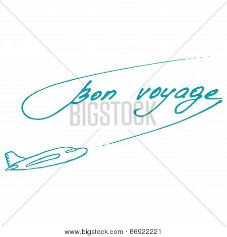 Bon Voyage Design. Summer Postcard