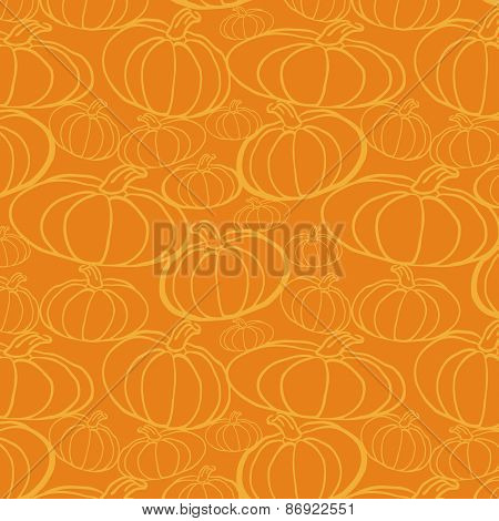 Pumpkin Seamless Vector Pattern.