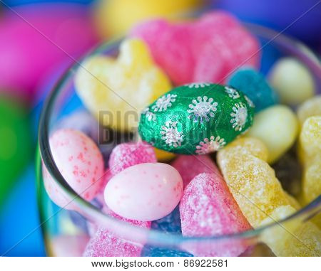 Easter Celebrations: Candies In A Glass