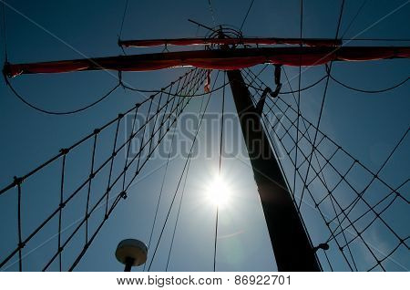 Sails And Mast Of Ship