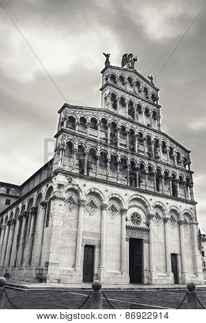 San Michele In Foro, Roman Catholic Basilica Church In Lucca, Tuscany