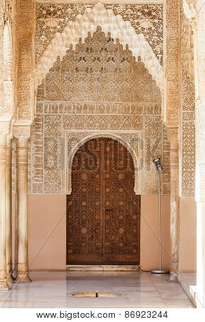 Arabian Door In Alhambra