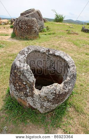 Plain Of Jars In Phonsavan, Laos.