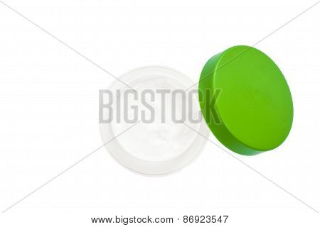 Beauty cream on white background