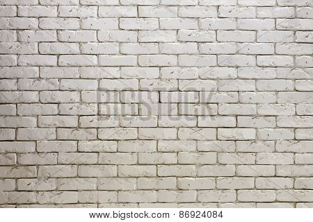 white brick wall, grungy grey texture. vector.