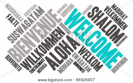Welcome International Word Cloud