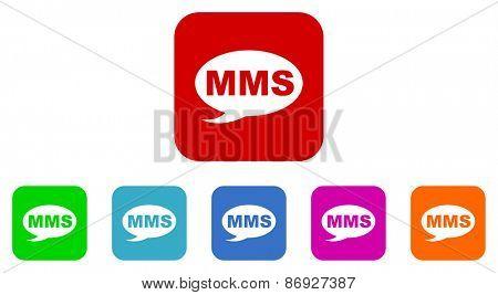 mms vector icons set