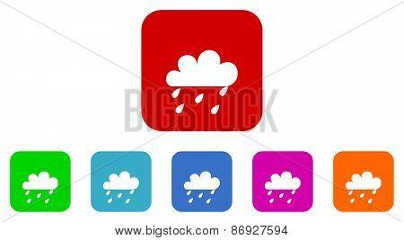 rain vector icons set