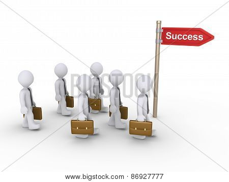 Businessmen Want To Succeed