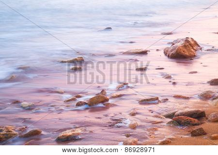 Smooth Sea and Stones on Sunrise - relaxation