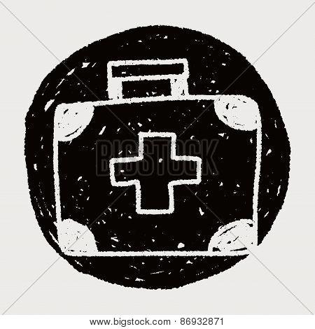 Medicine Case Doodle Drawing