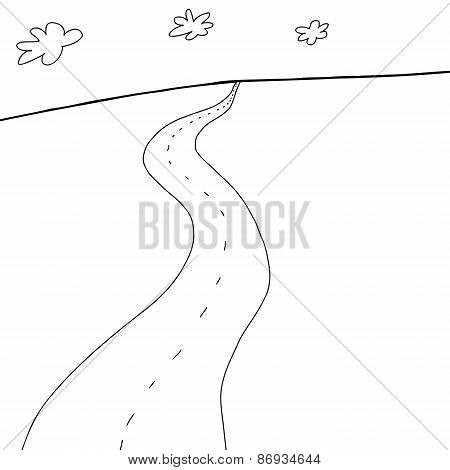 Highway Cartoon Outline