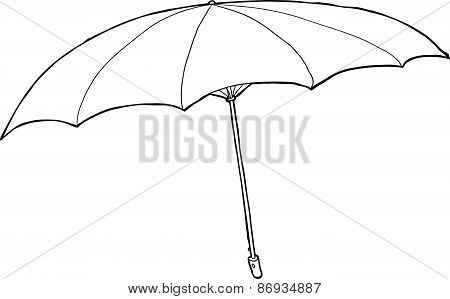 Outlined Umbrella