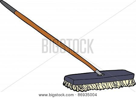 Cartoon Push Broom
