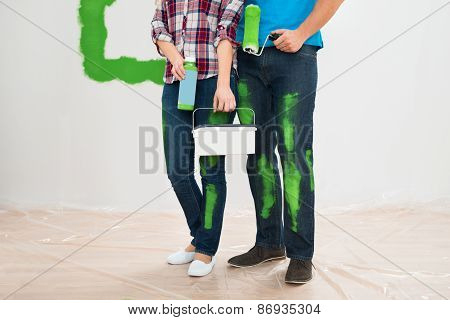 Couple With Painting Tools