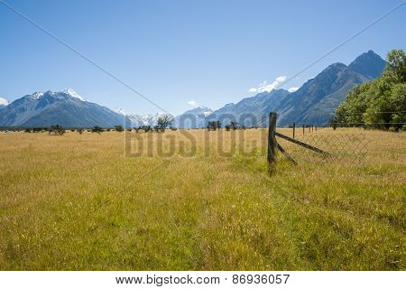 Fields And Mountains.