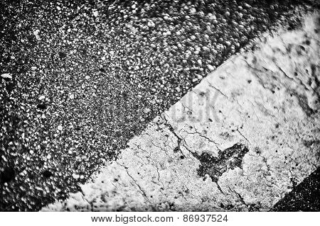 Detail Of Asphalt Road