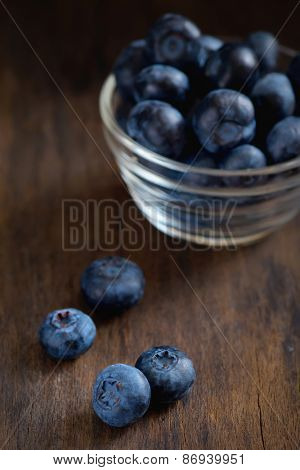 black currant on wooden table
