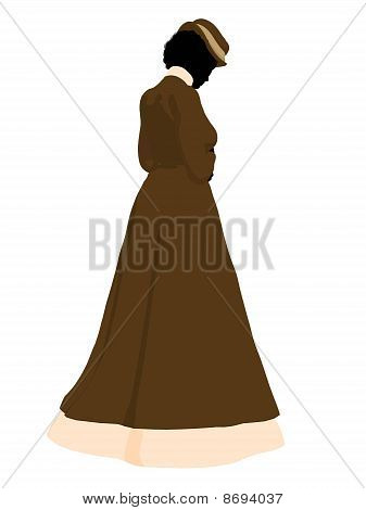 Victorian Woman Illustration Silhouette