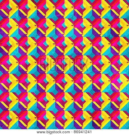 Psychedelic Mosaic Seamless Pattern