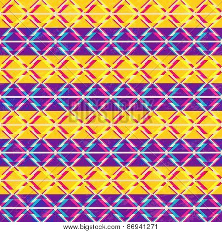 Psychedelic Triangle Seamless Pattern