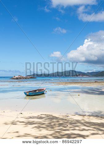 Sea, Sunny Beach And Boat