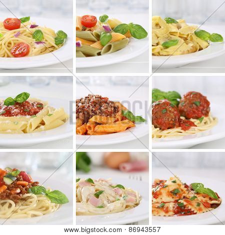 Italian Cuisine Collection Of Spaghetti Pasta Noodles Food Meals