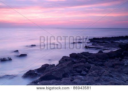 Sea Wave In Long Exposure