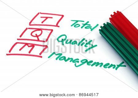 Total Quality Management Written In Paper