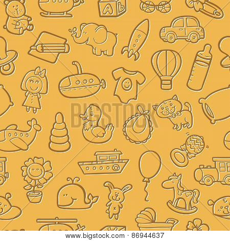 Doodle baby pattern