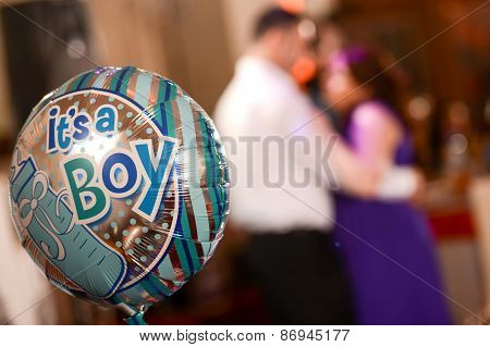 Party Balloon With Text Message