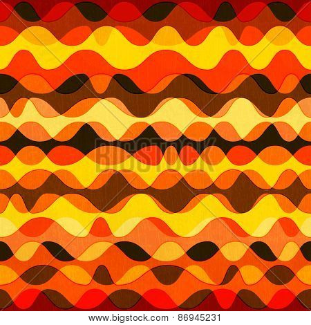 Warm Color Seamless Pattern